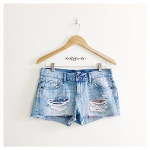 Old Navy ∙ Distressed Flag & Star Printed Shorts